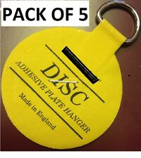 PACK OF 5 (50MM)Plate Picture Hanger Disc Self Adhesive Stick on Invisible Hook