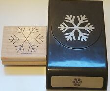 Stampin Up SNOWFLAKE PUNCH AND SNOWFLAKE STAMP Christmas Large snowflake punch