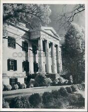 1949 Columns & Entrance Governors Mansion Milledgeville Georgia Press Photo