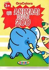 Ora colora gli animali dello zoo - Salvadeos - Libro nuovo in offerta!