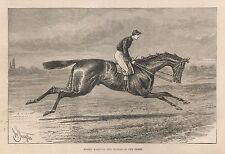 Ca 1887 MERRY HAMPTON THE WINNER OF THE DERBY SPORT HORSERACING