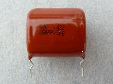 2 condensateurs polypropylene 820nF 250V 5% HJC PPN