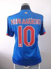 KUN AGUERO #10 ATLETICO MADRID AWAY FOOTBALL SHIRT JERSEY 2010/11 (M)