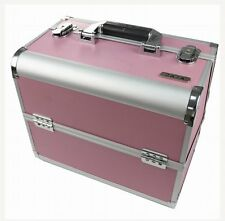 Large Professional PINK Aluminium Beauty Make Up Nail Cosmetic Box Vanity Case