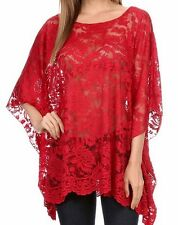 New Hot Sexy Comfy Plus Lace Tunic Kimono 3X Tag $98 Bohemian Made in US