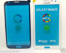 FRONT OUTER GLASS REPLACEMENT FOR SAMSUNG GALAXY NOTE 2 N7100,WHITE COLOR