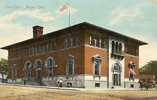 Post Office Akron OH Postcard