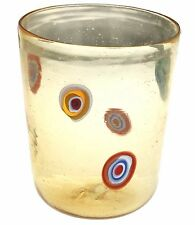 Bicchiere Goto Veneziano Murrine Millefiori Ambra Murano Glasses Made in Italy