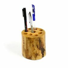 Pencil holder Wooden Rustic pen storage stationery pencil organiser