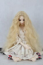 "7-8"" Long Blonde 1/4 BJD MSD SD BJD Doll Super Dollfie Wig"