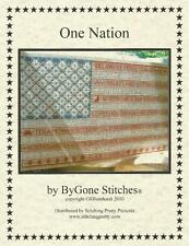 U.S. Flag All States Counted Cross Stitch Pattern ONE NATION - ByGone Stitches