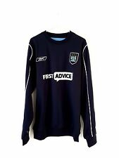 Manchester City Jumper. Small Adults. Reebok. Blue L Long Sleeves Football Top