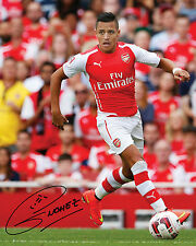 ALEXIS SANCHEZ (ARSENAL) - 10X8 PRE PRINTED LAB QUALITY PHOTO PRINT