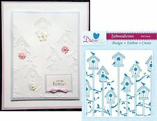 BIRD HOUSE Embossing Folders EF6BRO Crafter's Companion folder animals birds