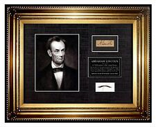 USA President ABRAHAM LINCOLN HAIR lock Signed COA letter memorabilia relic USA