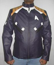 Chris Pine Kirk Star Trek Beyond 2016 Blue Leather Jacket.