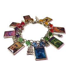 Harry Potter JK Rowling Inspired Charm Bracelet All Seven Books + Cursed Child