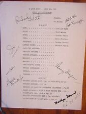 RARE STILL SUPERMAN GEORGE REEVES ON LUCY SIGNED SCRIPT
