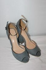 BENETTON - Sandales  Talons bout ouvert  11 cm gris Taille 38 Neuf