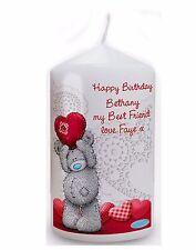 Personnalisé me to you teddy coeur bougie meilleur ami cadeau pour elle et lui #1