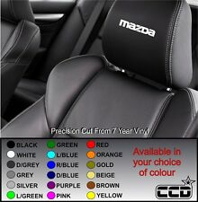 MAZDA CAR SEAT / HEADREST DECALS MAZDA BADGE LOGO Vinyl Stickers -Graphics X5