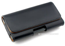 Horizontal Black P-Leather Case Cover Pouch + Belt-Clip for Apple iPhone 4s 4