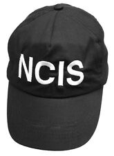 NCIS SNAP BACK CAP BLACK EMBROIDERED BASEBALL HAT FANCY DRESS