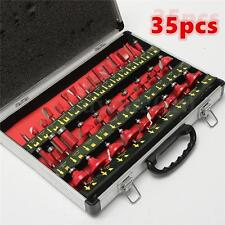 35pc Router Bit Set 1/4'' Shank Tungsten Carbide Tip Router Woodworking Tool