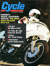 Cycle Magazine December 1974 Norton's White Lightning Special VGEX 062116jhe