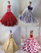 4 PCS Fashion royalty Ballgown Princess Dress Gown For Barbie Doll Collection