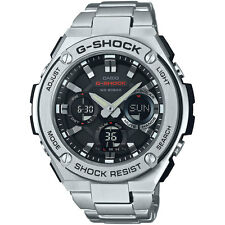 Casio Men's GSTS110D-1A 'G-Shock' Analog-Digital Stainless Steel Watch