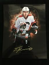TRAVIS KONECNY AUTOGRAPHED PHILADELPHIA FLYERS 16X20 PHOTO W/COA #4
