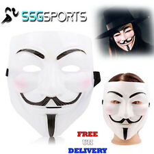 WHITE VENDETTA HALLOWEEN FANCY DRESS PARTY EYE FACE NOVELTY SCARY MASK COSTUME