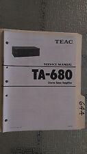 Teac ta-680 service manual original repair book stereo tuner amp amplifier