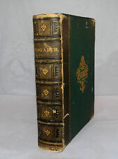 ANTIQUE LEATHER THE WORKS OF WILLIAM HOGARTH BY TRUSLER ILLUSTRATED BOOK LONDON