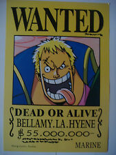 ONE PIECE POSTER BELLAMY THE HYENA  WANTED   42x29 CM NEW