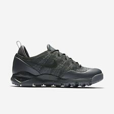 NIKE FLYKNIT LUPINEK ACG LOW BLACK TRAINERS SNEAKERS BOOTS UK 9