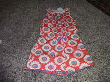NWT NEW MINI BODEN 3-4 3T 4T ORANGE FLORAL SHORT ROMPER OUTFIT