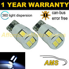 2X W5W T10 501 CANBUS ERROR FREE WHITE 6 SMD LED SIDELIGHT BULBS BRIGHT SL104004