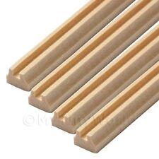 4 X Puppenhaus Miniatur 45cm Viereckiger Schnitt Holz Hand-schiene (stil 2)