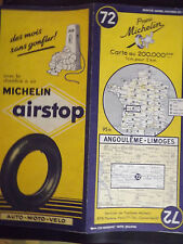 carte michelin 72 angouleme limoges 1955