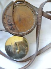 "ENGLISH MILITARY BOX ""DRUM""  SEXTANT W ORIGINAL LEATHER CARRYING CASE 1918"