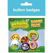 Official Moshi Monsters - Moshlings 6 Badge Pack