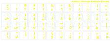 Autocollants de clavier ARABE, jaune Fonte, transparent Arrière-plan, mat