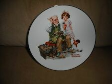 """THE COBBLER Norman Rockwell Museum Collector 6.5"""" Plate New in Box!"""