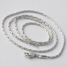 Womens White Gold Filled Silver Snake Chain Necklace Free Shipping 17 inch
