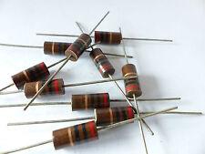 10 x Kohlemasse Widerstand 20 Ohm, 2W, Carbon Comp Resistors