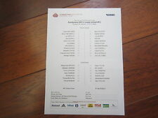 2014-15  FA CUP 3RD ROUND  SUNDERLAND AFC LEEDS UNITED  OFFICIAL TEAM SHEET