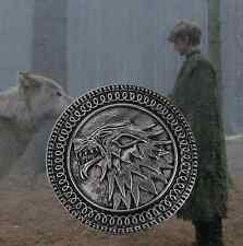 GAME OF THRONES Inspired Wolf Pendant Brooch Gift Jewelry Birthday UK