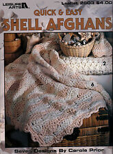 7 Quick & Easy Shell Afghans Stunning Must Have Designs Crochet Pattern Booklet